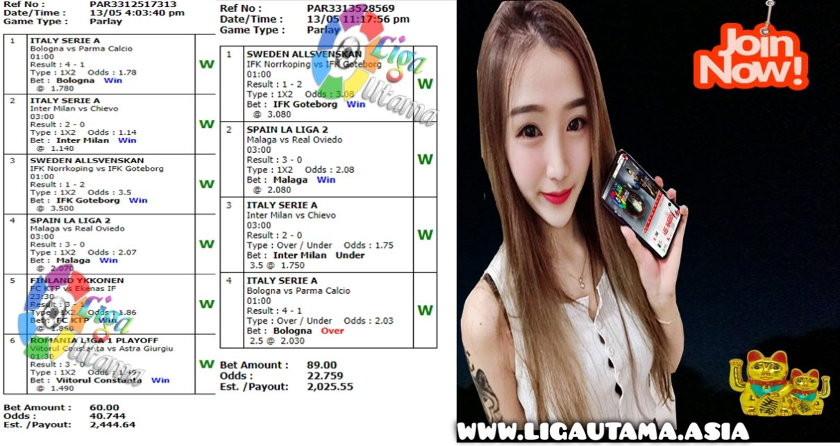 Jackpot Mix Parlay Edisi 14-15 Mei