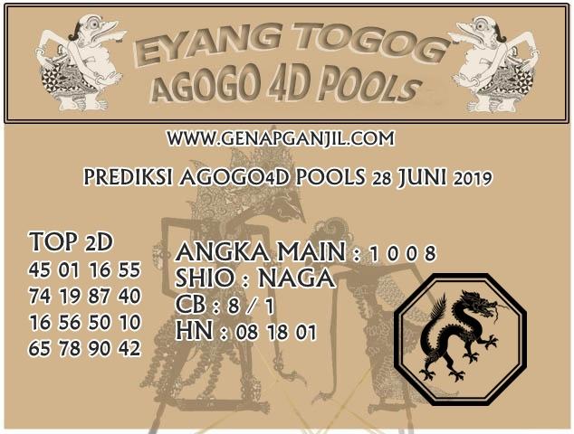 Prediksi Eyang Togog AGOGO4D 28 JUNI 2019