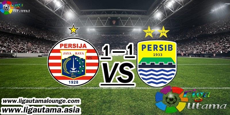 Hasil Pertandingan Persija Jakarta vs Persib Bandung: Skor 1-1