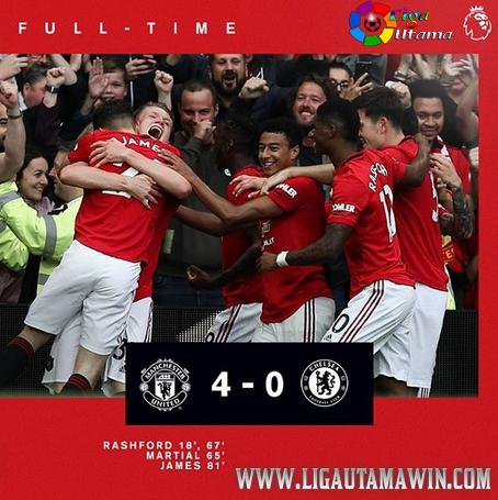 Hasil Pertandingan Manchester United vs Chelsea: Skor 4-0