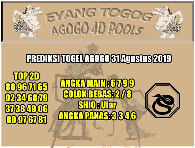 PREDIKSI TOGEL AGOGO 31 Agustus 2019