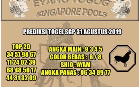 PREDIKSI TOGEL SGP 31 AGUSTUS 2019