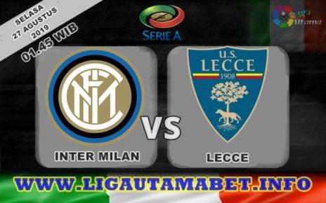 Prediksi Inter Milan vs Lecce 27 Agustus 2019