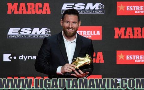 Lionel Messi Raih Trofi Sepatu Emas Eropa 2019
