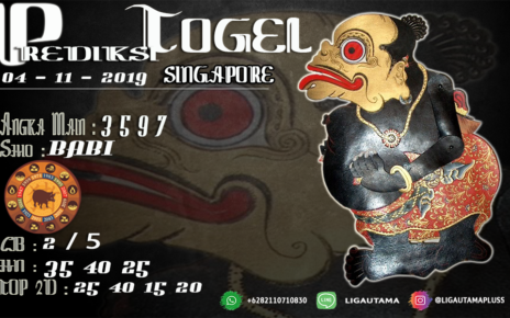 PREDIKSI TOGEL SINGAPORE 4 NOVEMBER 2019
