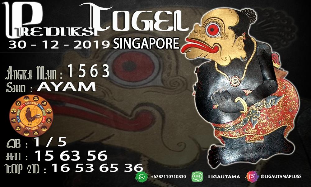 PREDIKSI SINGAPORE 30 DESEMBER 2019