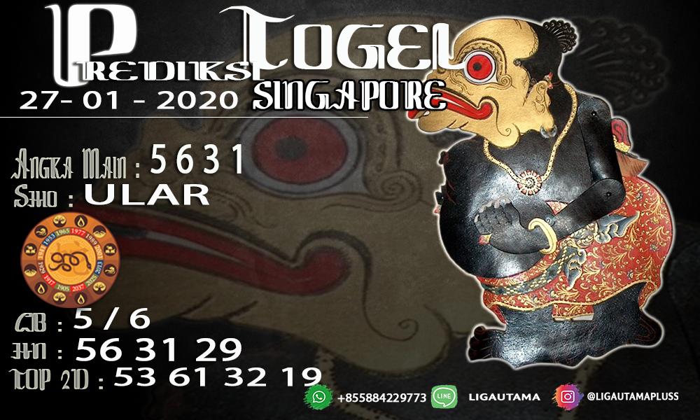PREDIKSI SINGAPORE 27 JANUARI 2020