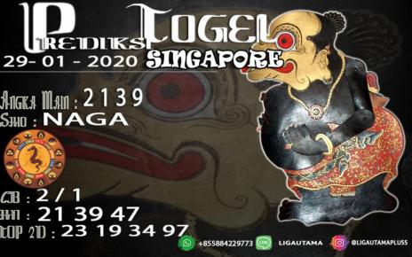 PREDIKSI SINGAPORE 29 JANUARI 2020
