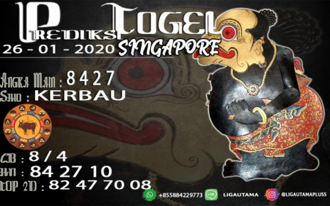 PREDIKSI SINGAPORE 26 JANUARI 2020