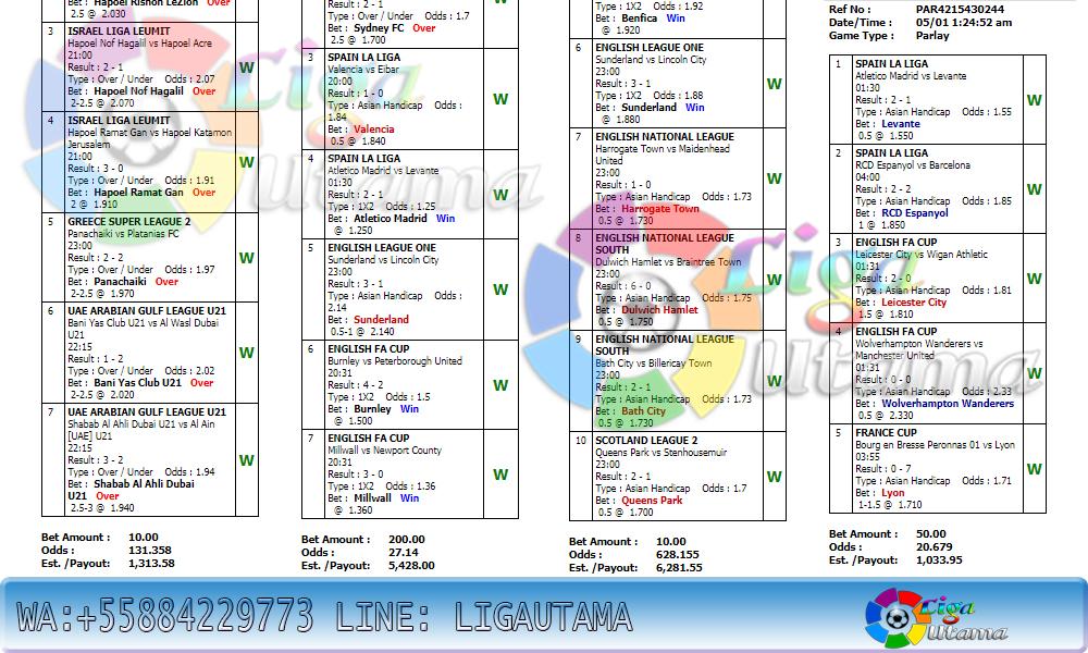 JADWAL PERTANDINGAN BOLA 6-7 JANUARI 2020