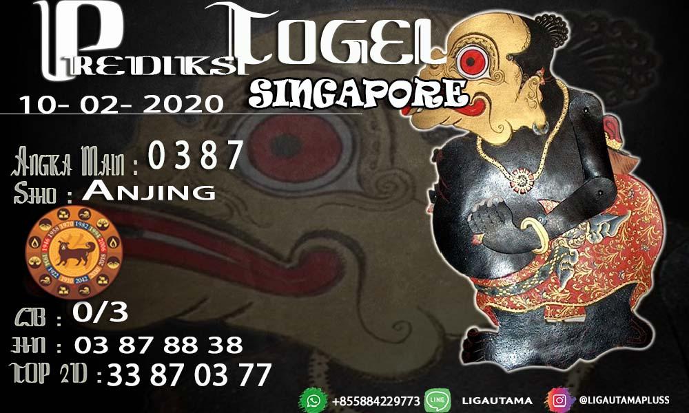 PREDIKSI SINGAPORE 10 FEBRUARI 2020