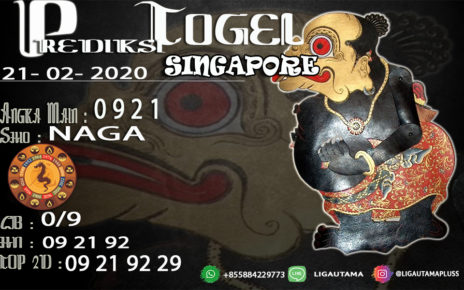 Prediski Togel Singapore 22 Februari 2020