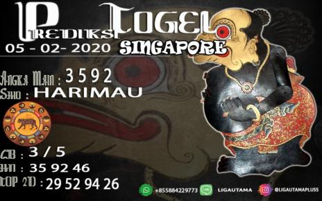 PREDIKSI SINGAPORE 05 FEBRUARI 2020