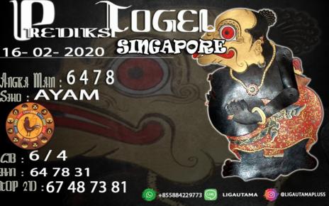 PREDIKSI SINGAPORE 16 FEBRUARI 2020
