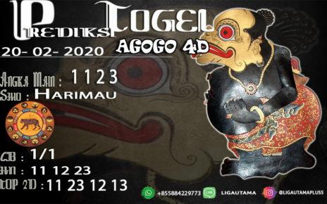 Prediksi Togel AGOGO4D 20Februari 2020