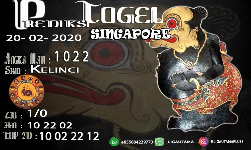 Prediski Togel Singapore 20Februari 2020