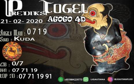 Prediski Togel AGOGO4D 22 Februari 2020