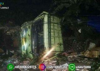 Truk Tabrak 7 Motor di Cianjur dan 2 Orang Tewas