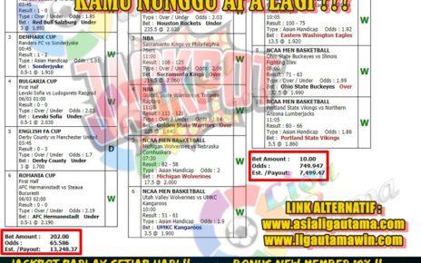 JACKPOT PARLAY LIGA UTAMA 07 MARET 2020
