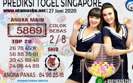 PREDIKSI SINGAPORE 27 Juni 2020
