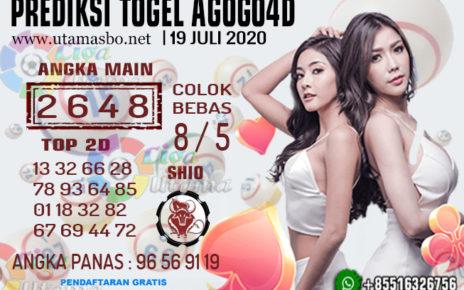PREDIKSI TOGEL AGOGO 4D 19 JULI 2020