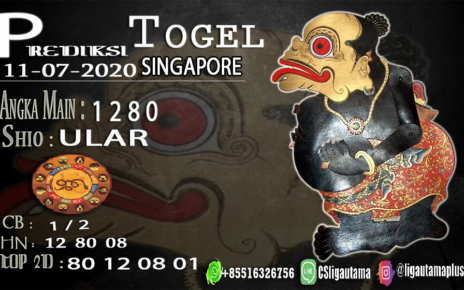 PREDIKSI SINGAPORE 10 Juli 2020