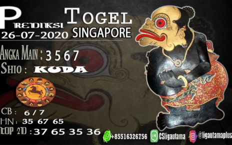 PREDIKSI TOGEL SINGAPORE 26 Juli 2020