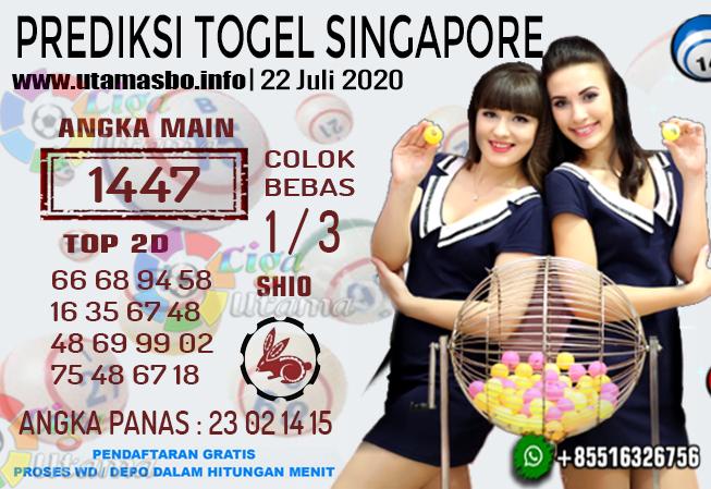 PREDIKSI TOGEL SINGAPORE 22 Juli 2020