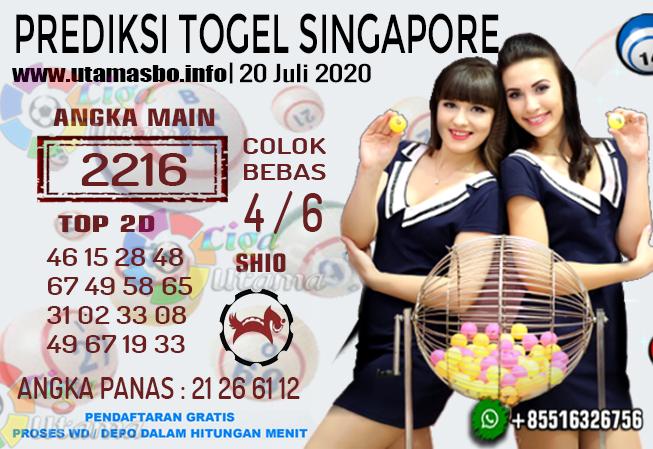 PREDIKSI TOGEL SINGAPORE 20 Juli 2020