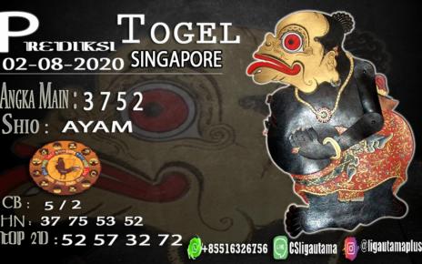 PREDIKSI TOGEL SINGAPORE 02 AGUSTUS 2020