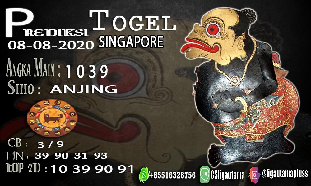 PREDIKSI TOGEL SINGAPORE 08 AGUSTUS 2020