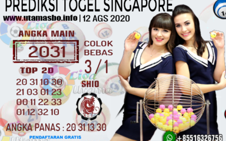 PREDIKSI TOGEL SINGAPORE 12 AGUSTUS 2020