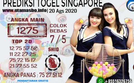 PREDIKSI TOGEL SINGAPORE 20 AGUSTUS 2020
