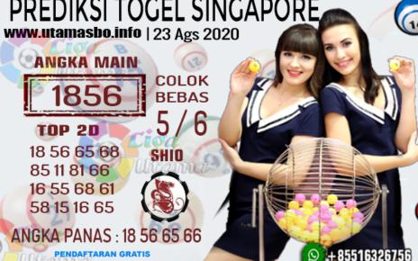 PREDIKSI TOGEL SINGAPORE 23 AGUSTUS 2020
