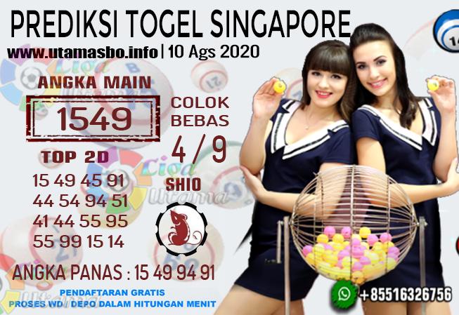 PREDIKSI TOGEL SINGAPORE 10 AGUSTUS 2020