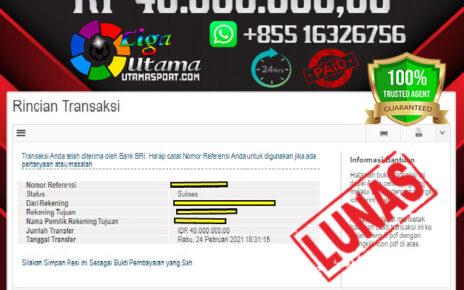 BUKTI JACKPOT LIGA UTAMA 26 FEB 2021