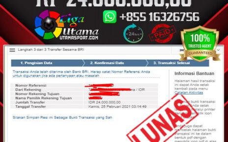 JACKPOT SLOT MEMBER LIGA UTAMA 25 FEB 2021