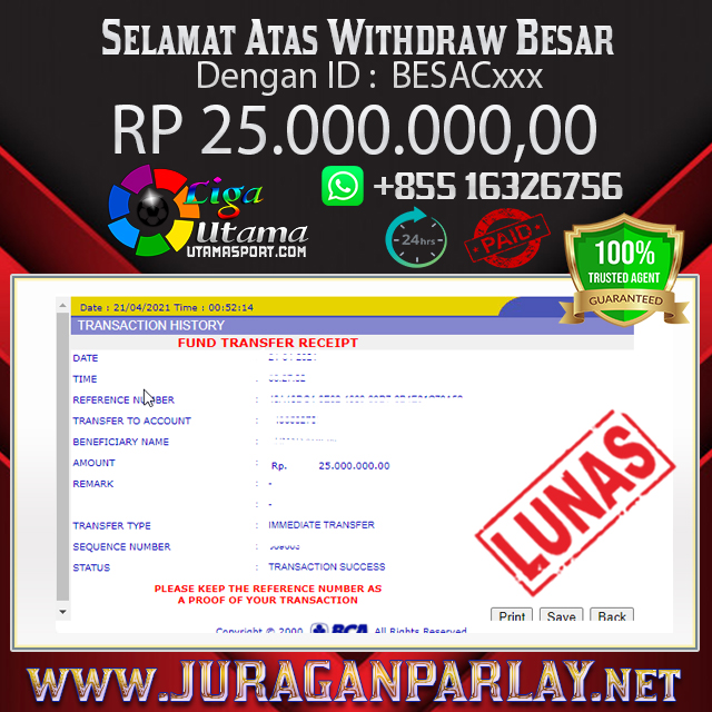 BUKTI WITHDRAW LIGA UTAMA 21 APR 2021