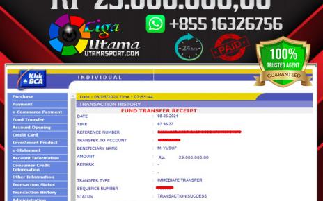 BUKTI JACKPOT LIGA UTAMA 08 MEI 2021