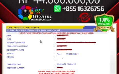 BUKTI WITHDRAW MEMBER LIGA UTAMA 16 MAY 2021