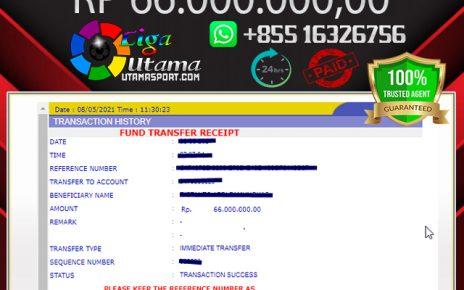 BUKTI WITHDRAW MEMBER LIGA UTAMA 8 MAY 2021