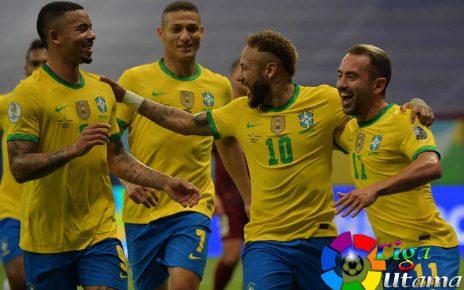Hasil Copa America 2021: Brasil Menang Dramatis 2-1