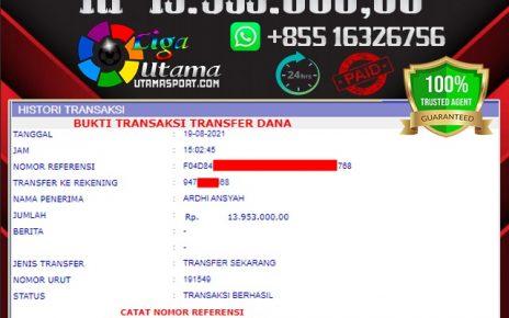 BUKTI WITHDRAW LIGA UTAMA 19 AGUSTUS 2021