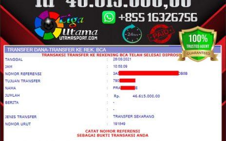 BUKTI WITHDRAW MEMBER LIGA UTAMA 26 AGUSTUS 2021