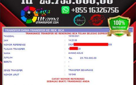 BUKTI WITHDRAW LIGA UTAMA 18 AGUSTUS 2021