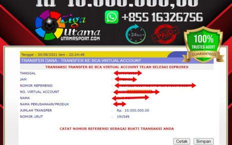 BUKTI WITHDRAW MEMBER LIGA UTAMA 31 AGUSTUS 2021