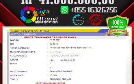 BUKTI WITHDRAW MEMBER LIGA UTAMA 12 AGUSTUS 2021