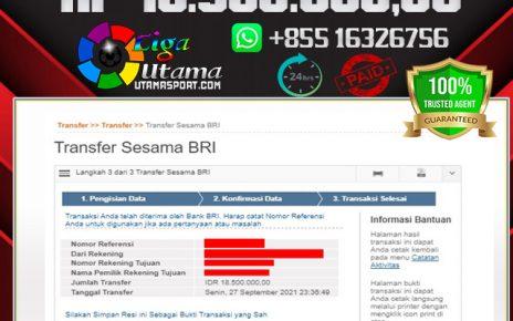 BUKTI WITHDRAW MEMBER LIGA UTAMA 27 SEP 2021
