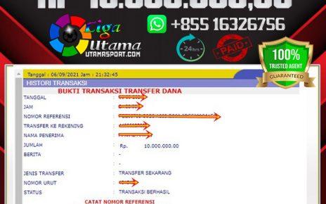 BUKTI WITHDRAW MEMBER LIGA UTAMA 7 SEP 2021
